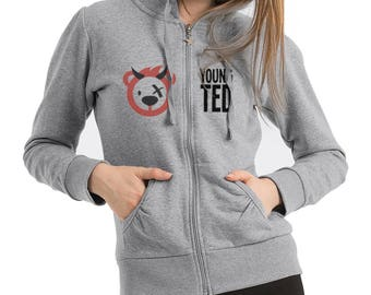 Women's Zipped Hoodie Teddy Bear Devil Top