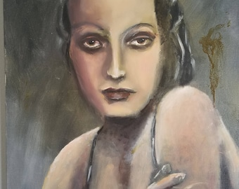 Dorothy Lamour - OIl Portrait on Canvas