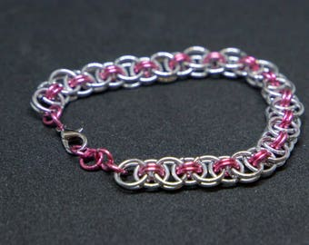 Pink and Silver Helm's Chain