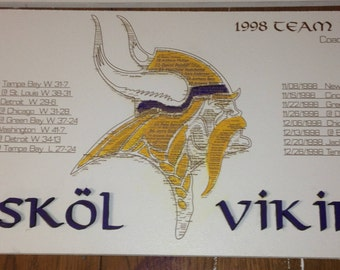 1998 Minnesota Viking Team Sign