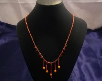 Orange Dangles Necklace