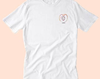 peach 'tuesday' tee