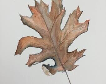 Fallen Leaf Original Watercolor1