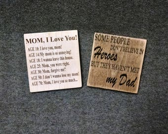 Customizable Mother's and Father's Sign, Mother's Day Gift, Father's Day Gift