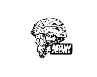 Army Skull w/ Helmet Graphic