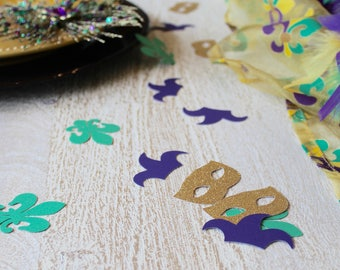 Mardi Gras confetti; Mardi Gras; Mardi Gras mask; Mardi Gras decorations; Mardi Gras decor; Mardi Gras party