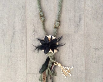 Feather s and Horn Necklace