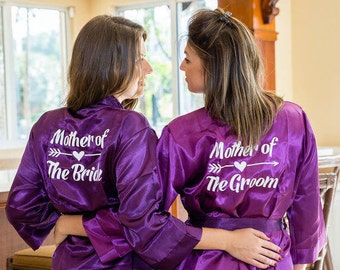 Mother of the Bride Robe, Mother of the Groom Robe, Mother of the Bride Gift, Mother of the Groom Robe, Bridal party robes, Satin Robes