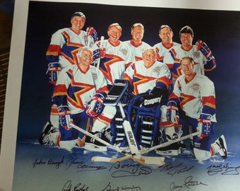 Masters of Hockey Zellers Signature Series Print  245/600 1993