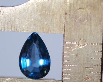 London Blue Topaz, One Piece Beautiful, Faceted Teardrop, Pear Shape, Blue Topaz, 10 x 7mm, average 2.3 ct ea.