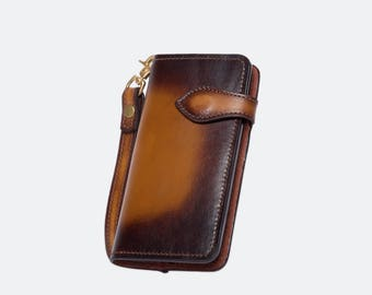 GXD [-Future-iphone case/order production/genuine leather/full leather] Brown/brown