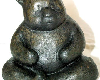 sculpture animal panda concrete waxed
