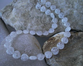 "Mountain Crystal Necklace ""Heartbeat"" #350"