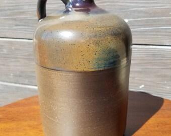 Brown whiskey jug
