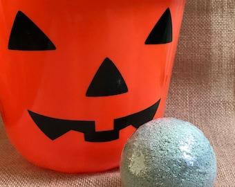 Halloween Inspired Bath Bomb, Black Bath Bomb, Black and Orange, Bath Fizzy, Bath Fizzie, Charcoal Bath Bomb