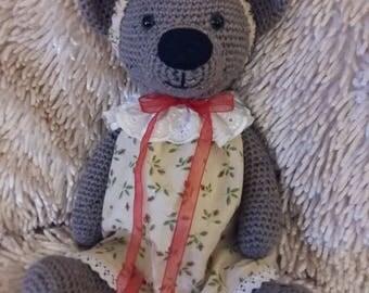 Crochet Teddy Bear, Stuffed Bear, Amigurumi Animals