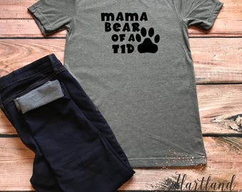 Type 1 Diabetic Mom Shirt- Mama Bear of a T1D Shirt- Type 1 Diabetes Shirt- Type 1 Diabetic Shirt- Mom of a Type 1 Diabetic