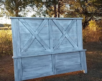 Custom X Farmhouse Bed King, Queen, Full, Twin Shipping Available