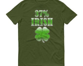 Funny St. Patrick's Day Men's T-Shirt/ 37% Irish Funny Tee/ St. Paddy's Day Shirt/ St. Patrick's Day Gifts