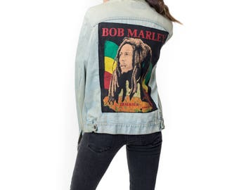 Vintage Levi's 1980's Bob Marley Denim Jacket