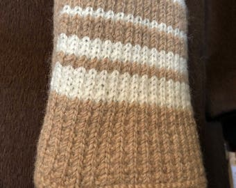 Paco-Vicuna Hand Knitted, Striped Rugby Scarf- So Soft!!