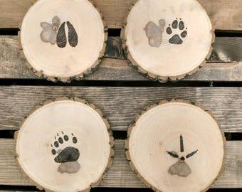 Set of 4 Animal Tracks Coasters