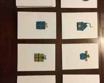 Set of Handmade Christmas Cards