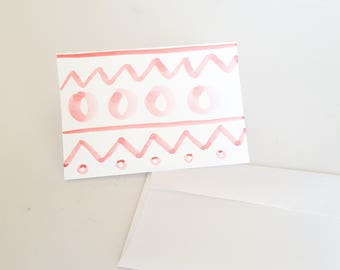 Customizable  Handmade Watercolor Greeting Cards