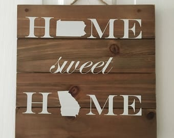 Home Sweet Home with States Vinyl Decal