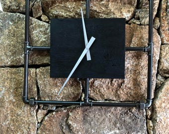 Clock wood and steel