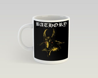 Bathory 11oz Coffee Mug Black Metal Venom Motorhead GBH Mayhem Darkthrone Immortal Emperor Mercyful Fate