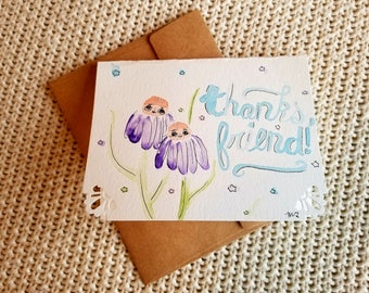 Flower Friends Thank you Cards