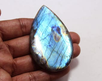 174.55cts Natural Multi flash Labradorite Pear 71x43x7 mm  Labradorite loose gemstone amazing & beautifull Labradorite nice flash AA-09