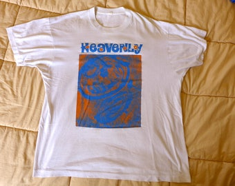 HEAVENLY Original Rare T-Shirt TALULAH GOSH Pastels Smith Primitives Twee Indiepop Tee