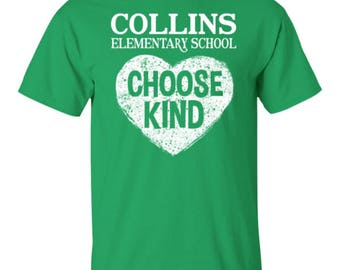 Choose Kind kids youth t-shirt - Collins Elementary School
