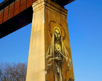 Our Lady of the Train Trestle - Printable Wall Art (please contact me for prints)