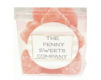 Sweets in a clear box