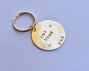 Personalized Handstamped Keychain