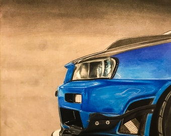 Nissan GT-R R34 Drawing