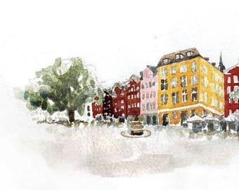 COPENHAGEN square, print