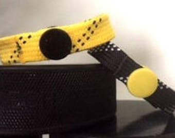 Handmade hockey lace bracelets - all sorts of colors!