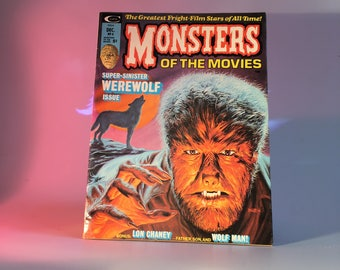 MONSTERS Of The Movies Magazine Vintage Horror #4 / Universal Monsters, Werewolf, Super-Sinister, Vintage Horror Movies, B Movies, Wolf Man