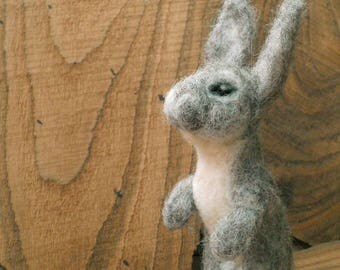 Rabbit,Needle Felted Rabbit,NeedleFelted Animal,Soft Sculpture,Gift,Wool,OOAK,Natural Fiber,Collectible