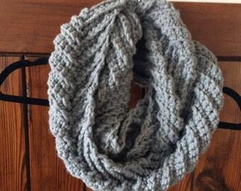 Chevron cowl scarf