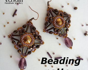 Baroness earrings beading pattern