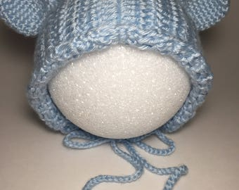 baby hat, baby's cowl, hoodie, baby hat with ears, cute hat, baby girl hat, baby boy hat