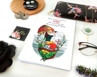 Notebook, illustrated notebook, journal, diary
