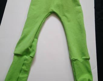 Lime Green Grow With Me Pants