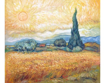 Van Gogh's technique - Inside the field