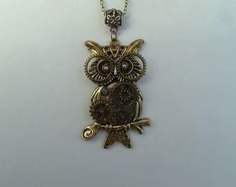 Steampunk OWL pendant handmade